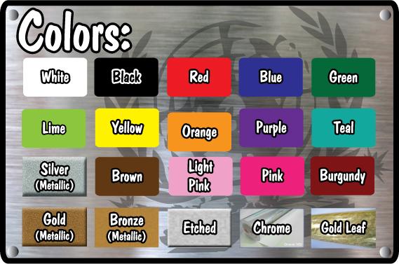Vinyl Disorder Color CHart